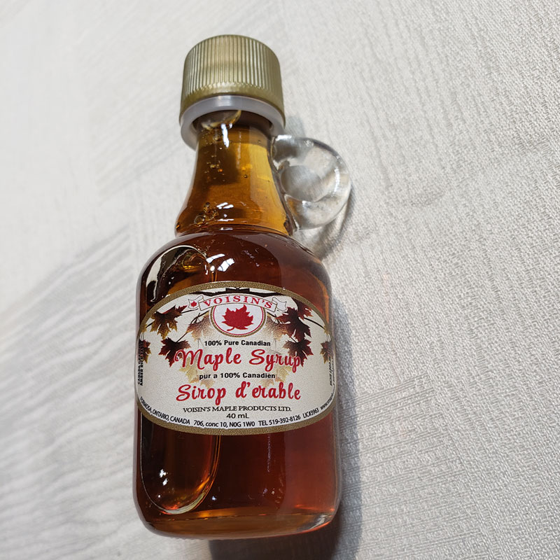 amber maple syrup 40ML glass jug