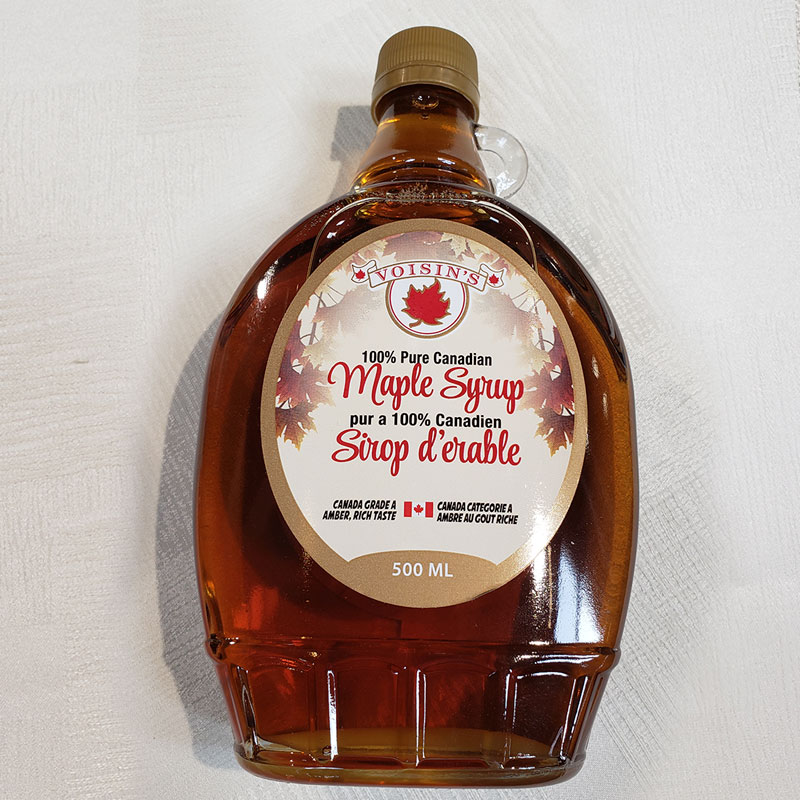 amber maple syrup 500ML glass jug