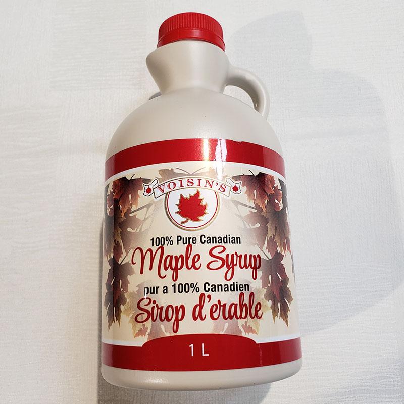 dark maple syrup 1L plastic jug