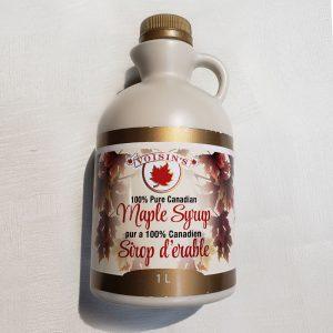 amber maple syrup 1L plastic jug