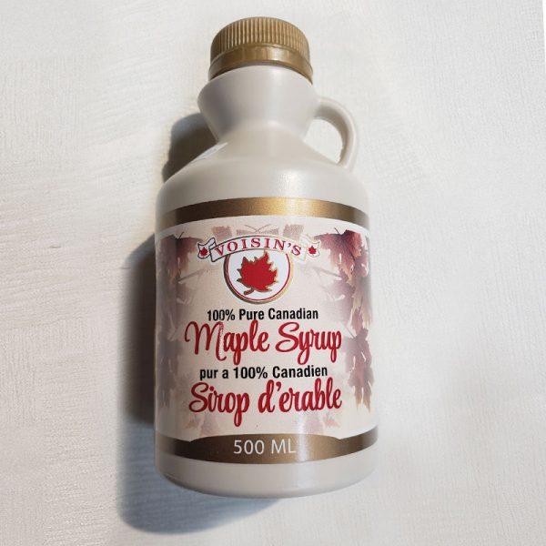amber maple syrup 500ML plastic jug
