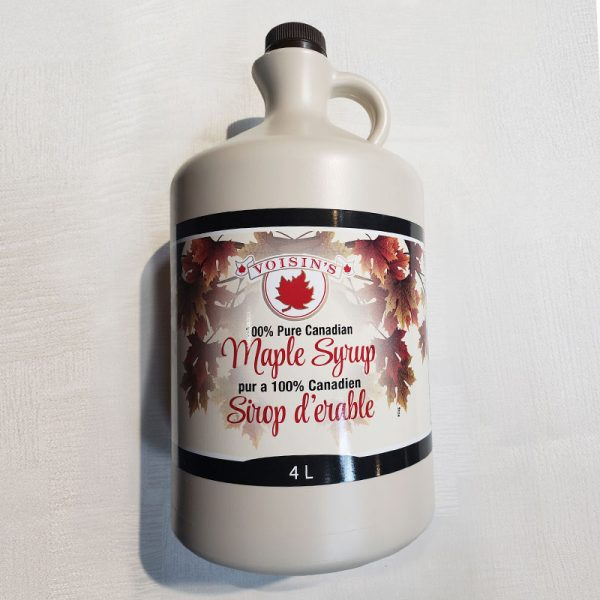 very dark maple syrup 4L plastic jug